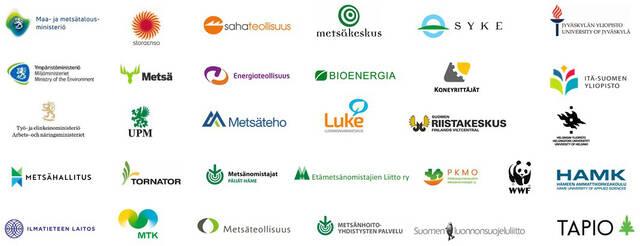 Metsänhoidon suositusten johto- ja ohjausryhmien organisaatioiden logot