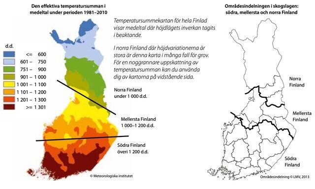 Värmesumma och områdesindelning