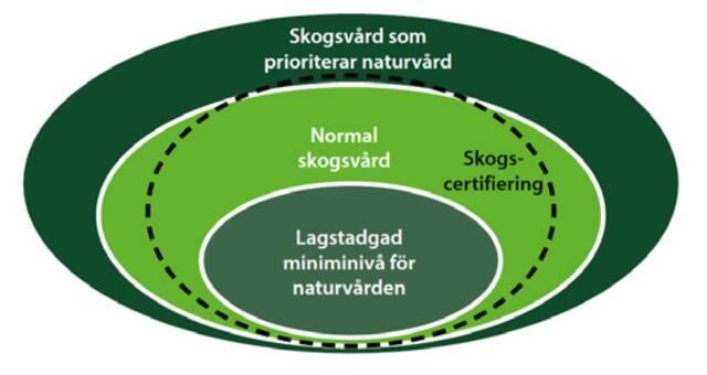Nivåer hos naturvården i skogsbruket